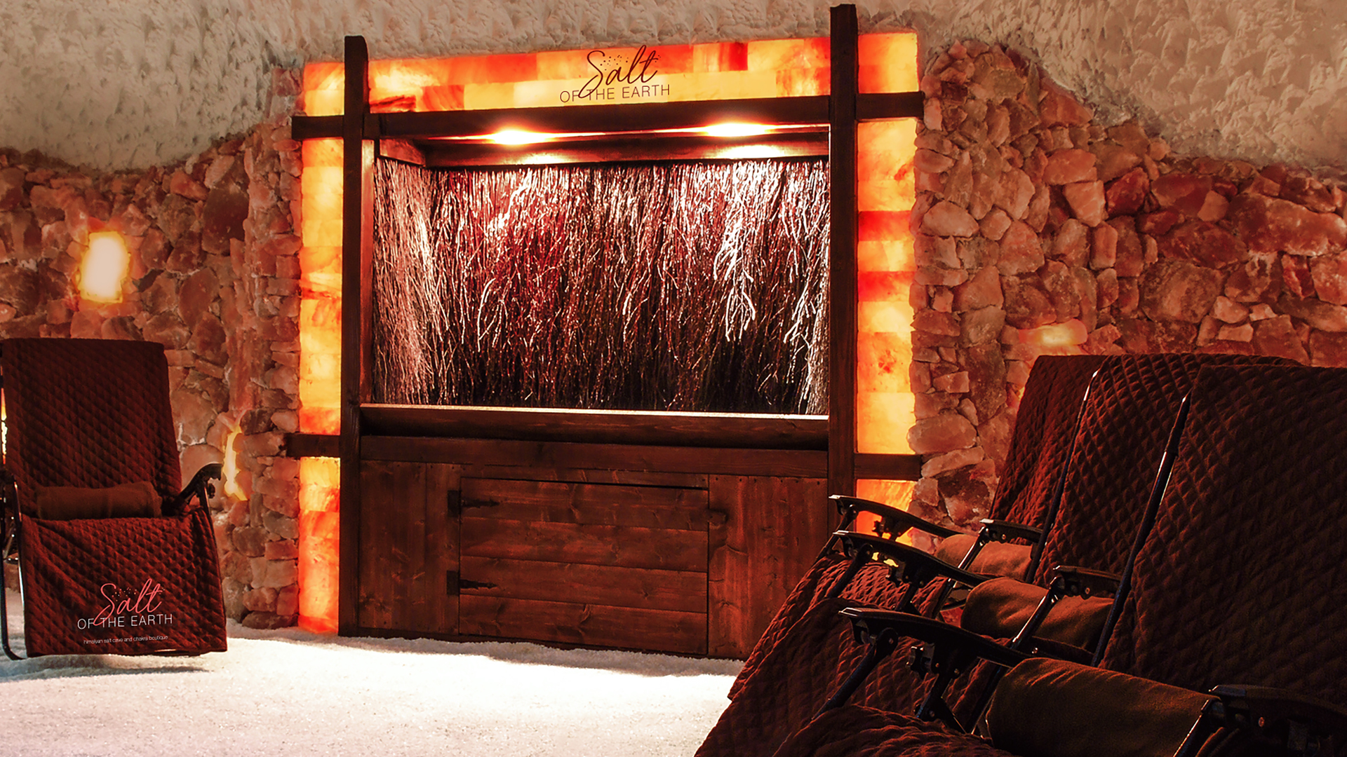 Salt of the Earth himalayan largest salt cave in pennsylvania, chakra boutique graduation tower, relax in zero-gravity chairs and comfy blankets