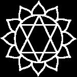 white chakra icon anahata