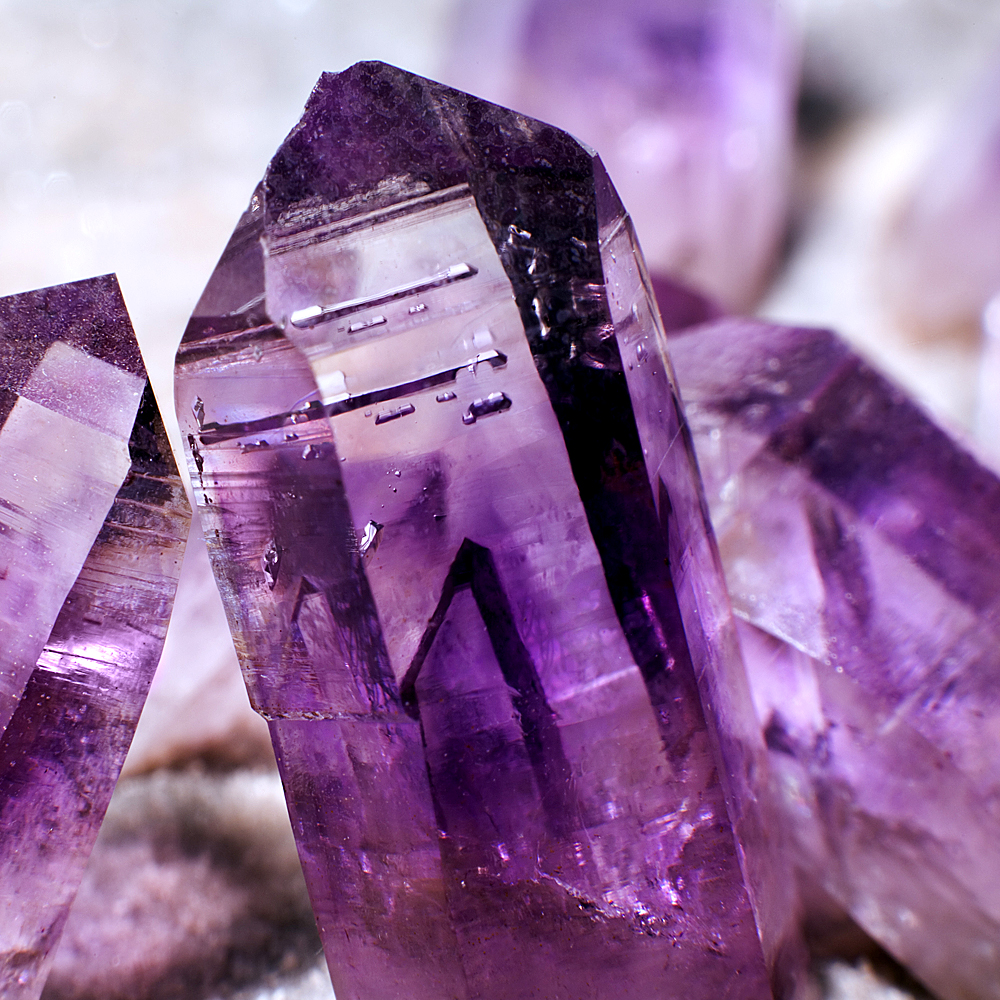 purple crystals from Salt of the Earth chakra boutique