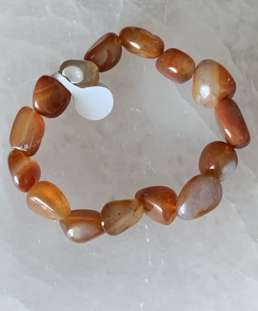 Carnelian chunky bracelet