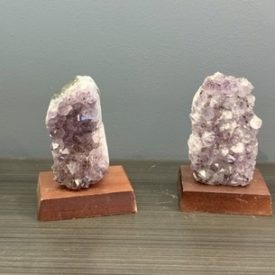 Amethyst w/ wood Base