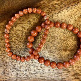 Red Jasper Bead Bracelet- Large Bead