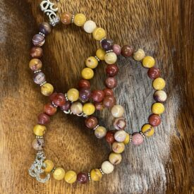 Mookaite Bead Bracelet w/ Charm