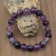Purple Fluorite Bead Bracelet
