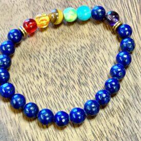 Sodalite Bead Bracelet w/ Chakra Beads