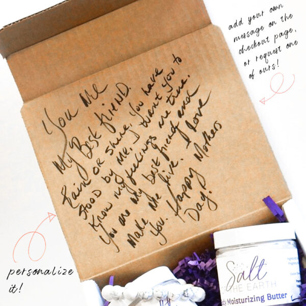 gift box with message on top