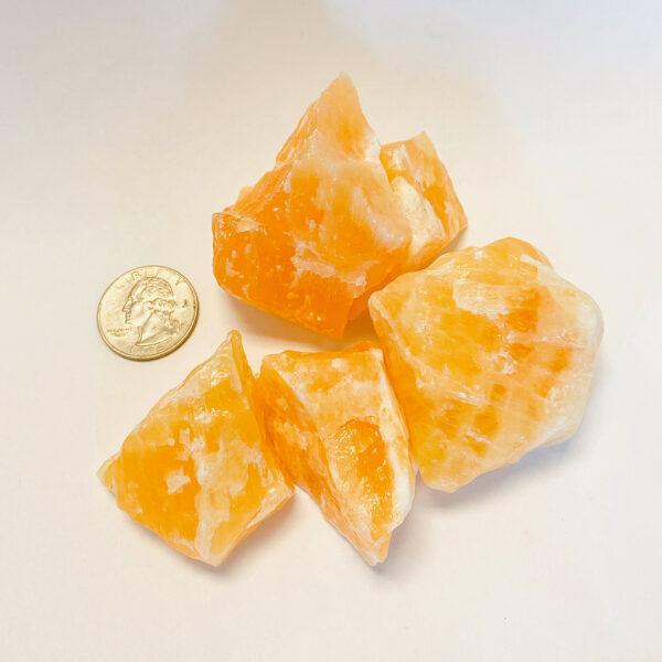 Orange Calcite - Rough