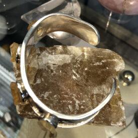 Cuff Bracelet with Citrine Stones