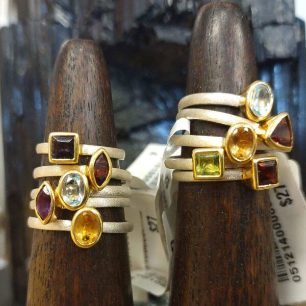 crystal stackable rings