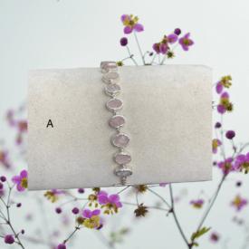 Rose Quartz and Silver Bracelets