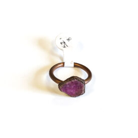 Raw Ruby and Copper Ring