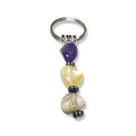 Canine Crystals – Dog Collar Charm – Amethyst, Citrine and Somky Quartz