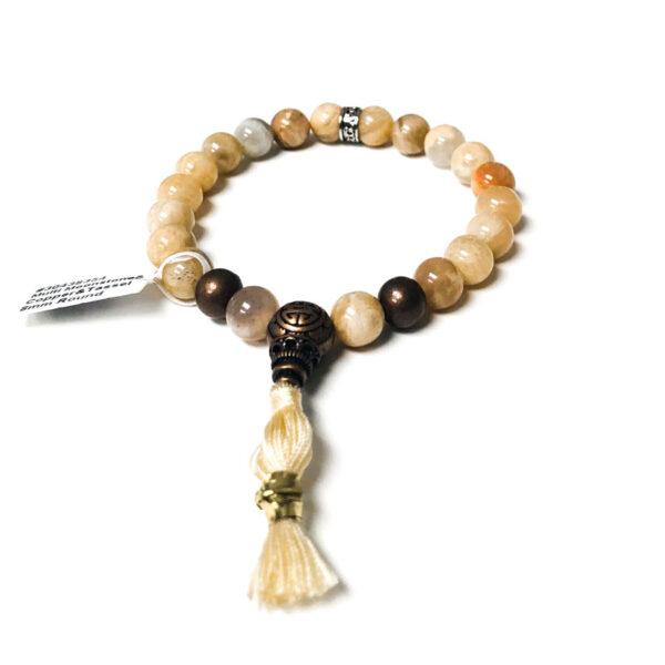 multi moonstone and copper healing bracelet