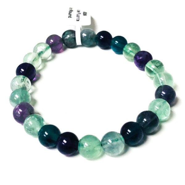 rainbow fluorite bead bracelet