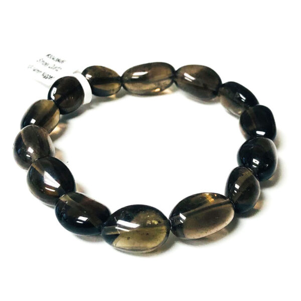 smokey quartz bead bracelet